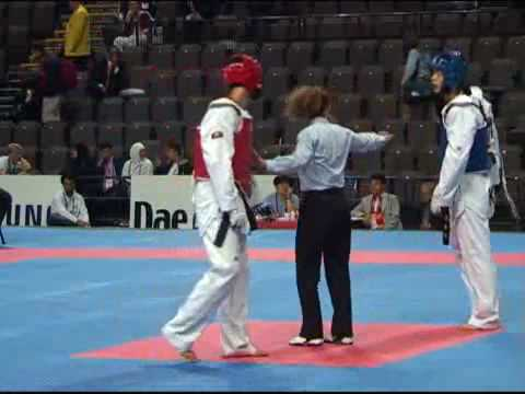 World Taekwondo Qualification Tournament for Beijing Olympic Games Manchester Male -68 kg Korea vs Cuba Round 3