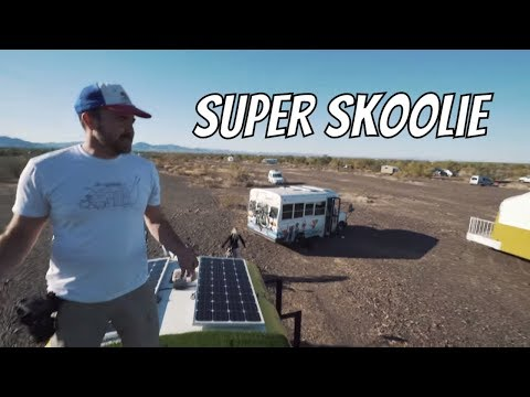 Awesome Custom School Bus Home for Full Time Travel. The Super Skoolie
