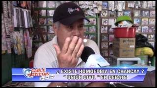 EXISTE HOMOFOBIA EN CHANCAY UNION CIVIL EN DEBATE