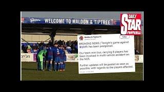 Maldon & tiptree team bus involved in 'multi-vehicle accident'
