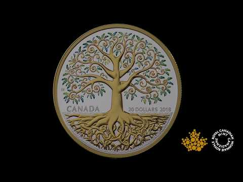 1 oz. Pure Silver Gold-Plated Coin - Tree of Life