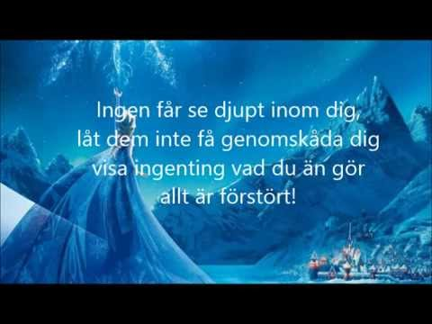 Slå dig Fri Karaoke (Let it go) Swedish
