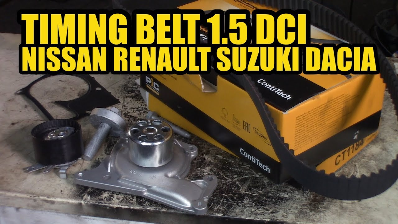 How to replace a timing belt and waterpump 1 5 DCI Nissan Renault Suzuki  Dacia