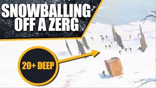 SNOWBALLING off a ZËRG RAIDING 20+ DEEP   Rust Solo Survival (1 of 4)