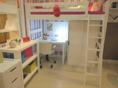 Cama alta menina linha clever youtube for Estructura de cama alta ikea