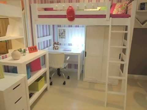 Cama alta menina linha clever youtube - Ikea cama alta ...