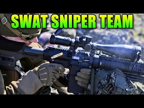 SWAT Sniper Team - Double Vision | Battlefield Hardline Bolt Action Gameplay