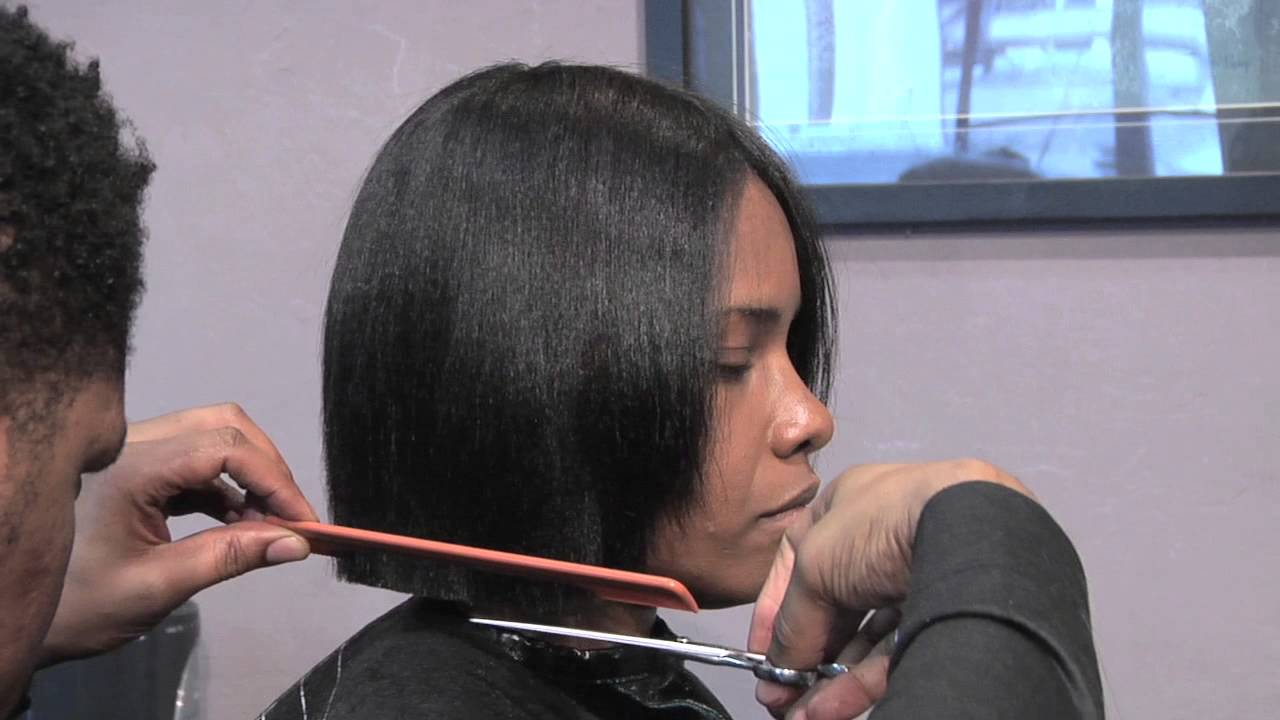 How to Cut a Short Bob-Style Hair Cut : Hair Care