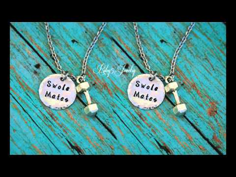 Riley5 Jewelry Personalized Hand Stamped Jewelry:Swole Mates