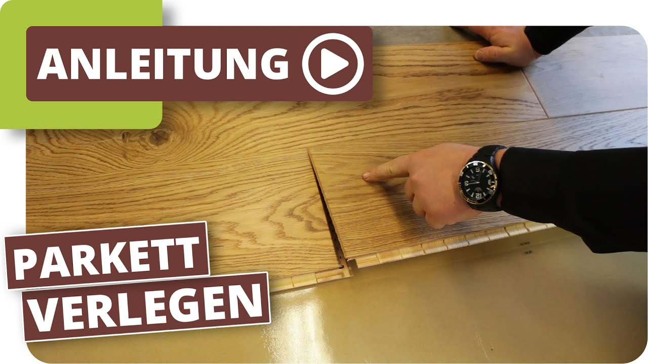 Parkett verlegen  Parkett verlegen. - YouTube