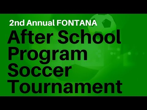 Fontana's Annual After School Soccer Tournament 2016