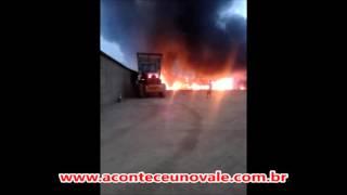 Incêndio em Itamarandiba no dia 8 de novembro de 2015