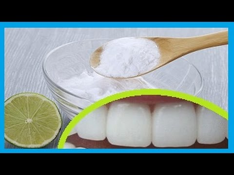 como se blanquea los dientes con bicarbonato
