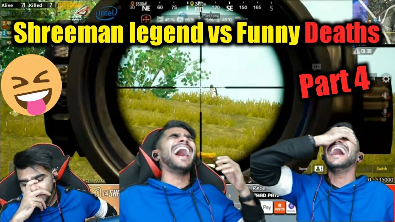Shreeman legend Funny Deaths Part 4 | PUBG Mobile