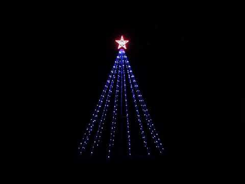 8ft Outdoor Lighted Christmas Tree With