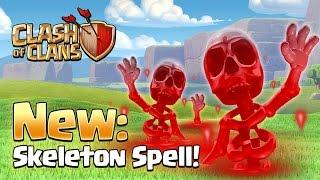 Clash of Clans May 2016 UPDATE - NEW DARK SKELETON SPELL! | New Dark Spell Gameplay!