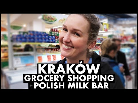 Krakow Grocery Shopping + Polish Milk Bar
