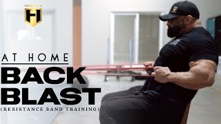 AT HOME BACK BLAST (resistance band training) | Fouad Abiad