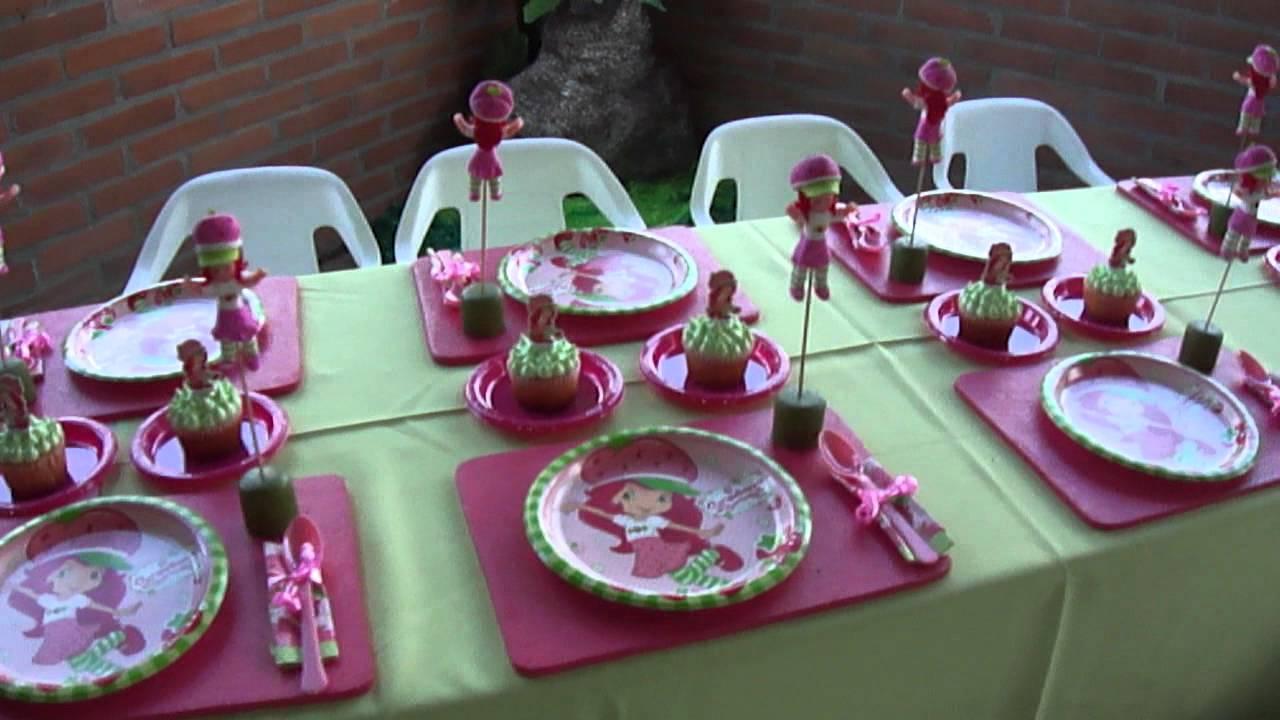 fiesta tematica infantil rosita fresita y sus amigas mesas de nios de julio de youtube