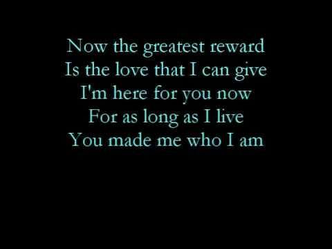 The greatest reward-Celine Dion with lyrics