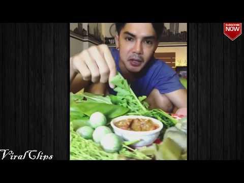 Kompilasi Mukbang : Makan Terong MENTAH : Eating Show : Special Thai Vegetables