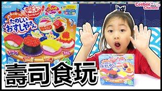 日本食玩壽司店 開張啦! 手握壽司DIY 遊戲   知育菓子DIY Japanese Candy kit  Ceebee 5yrs   [中英字幕 English subtitle]