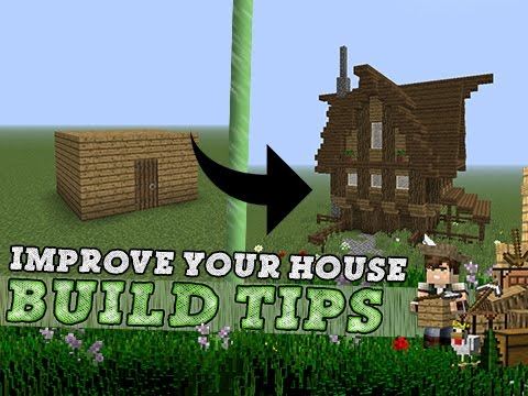 Tips On Building A House Fascinating Minecraft  Improve Your House  Build Tips  Youtube Decorating Design