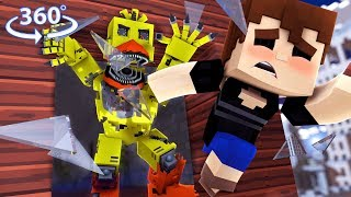 360° Five Nights At Freddyand39s - Nightmare Chica Vision - Minecraft 360° Vr Video