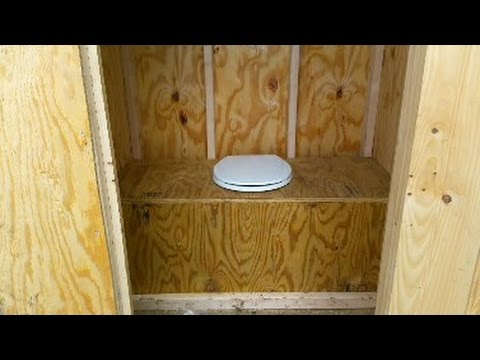 Building an outhouse at the off grid cabin youtube