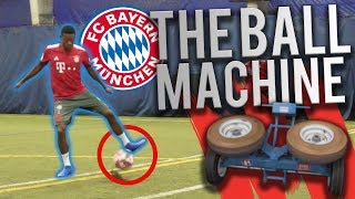 100MPH BALL MACHINE VS FC BAYERN!!!