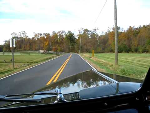 Country Autumn Drive in a 1940 Ford