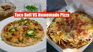 Taco Bell VS Homemade Mexican Pizza Video Recipe Bake Air Fryer Fry  Bhavna&#39s Kitchen
