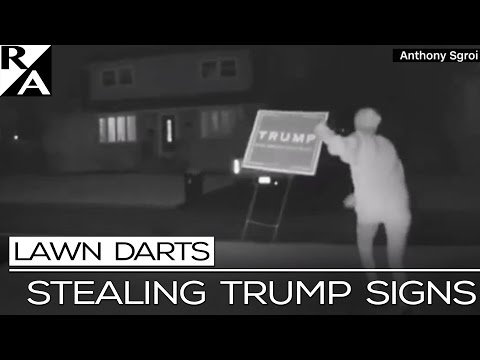 RIGHT ANGLE: STEALING TRUMP SIGNS