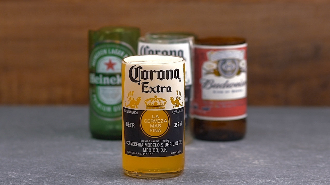 How To Make Drinking Glasses Out Of Old Beer Bottles