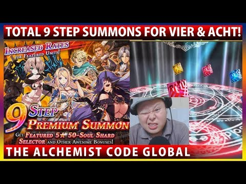 9 Step Summons For Vier & Acht! (The Alchemist Code GLOBAL)