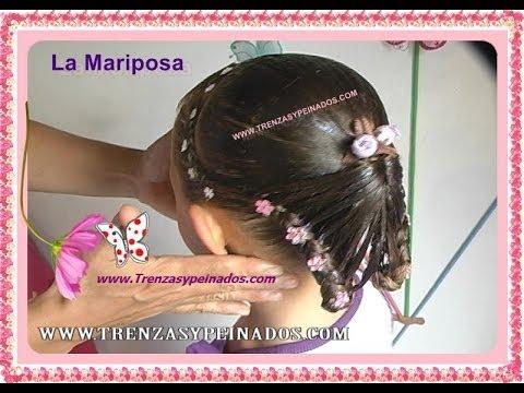 Peinado para niñas. Curso 6 (LA MARIPOSA)