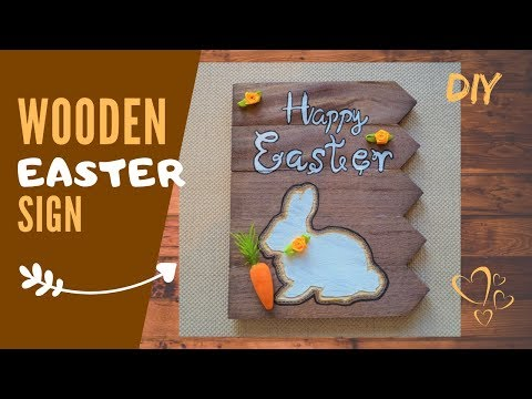 Easter DIY | Wooden Plaque | Colourful Bunny Wall Decoration