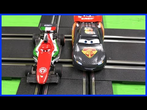 Disney Pixar Cars Lightning McQueen Carrera Go Slot Cars Carbon Racers