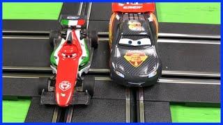 Disney Pixar Cars Lightning McQueen Carrera Go Slot Cars Carbon Racers