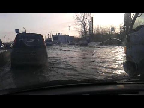 Коммунальная авария на въезде в Копейск