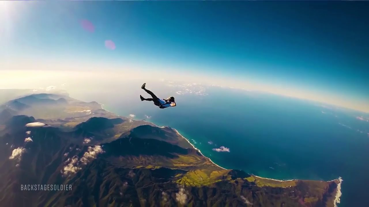 Person Flying In The Sky
