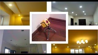 видео Расположение светильников на потолке: натяжном, гипсокартонном