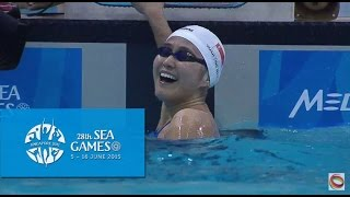 swimming women s 100m freestyle finals day 3   28th sea games singapore 2015