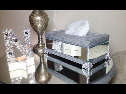 Amazing DIY For Room decor - Mirrored Tissue Box Cover