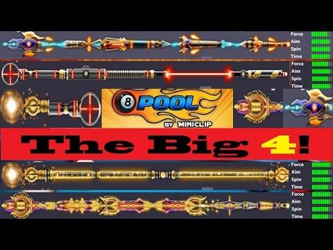 The BIG 4! KING/Sniper/Archangel/Galaxy! 8 Ball Pool