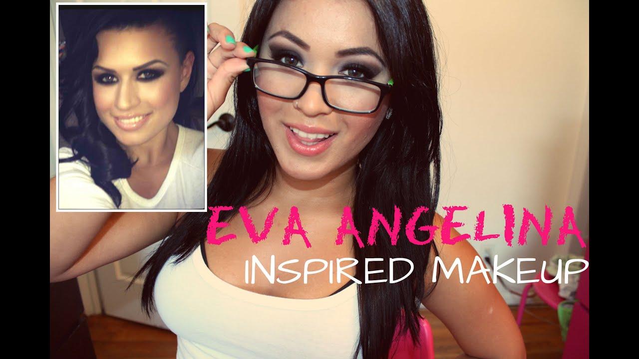 eva angelina inspired makeup tutorial - youtube