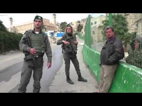 Israeli soldier :  Only Jews walk here