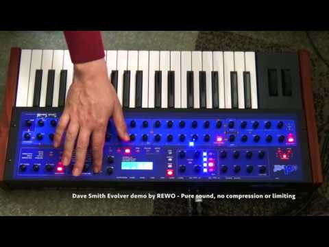 Dave Smith Evolver - Selfprogrammed sounds without efx and compression 1080p