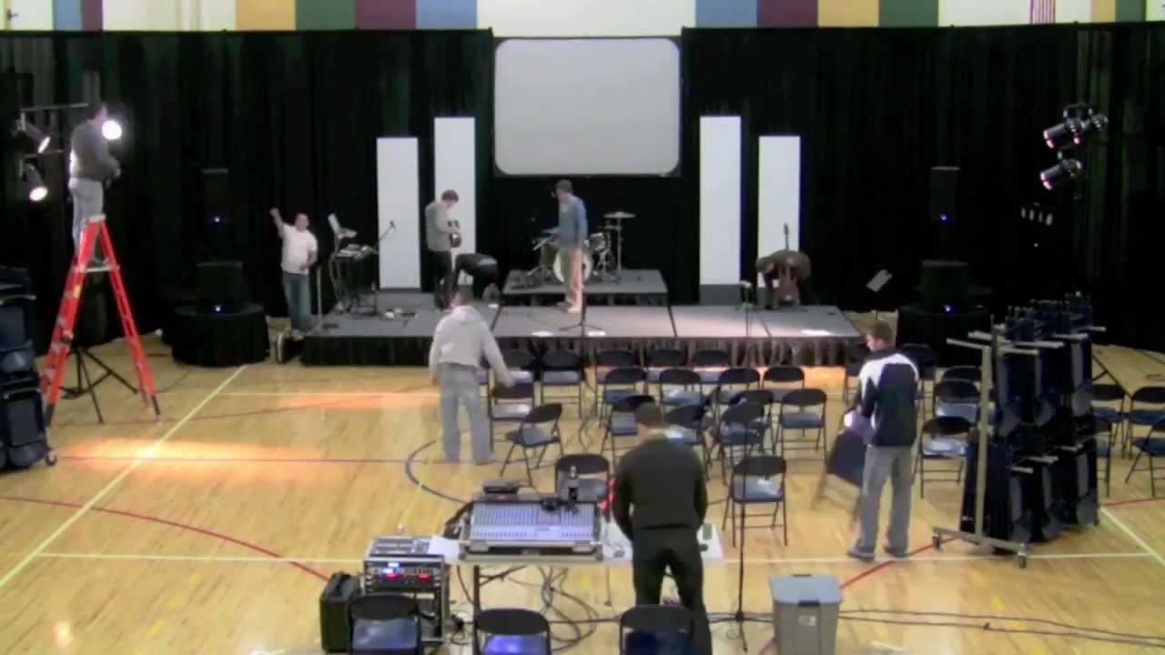 Renovation Church SetUp TimeLapse  2012  YouTube
