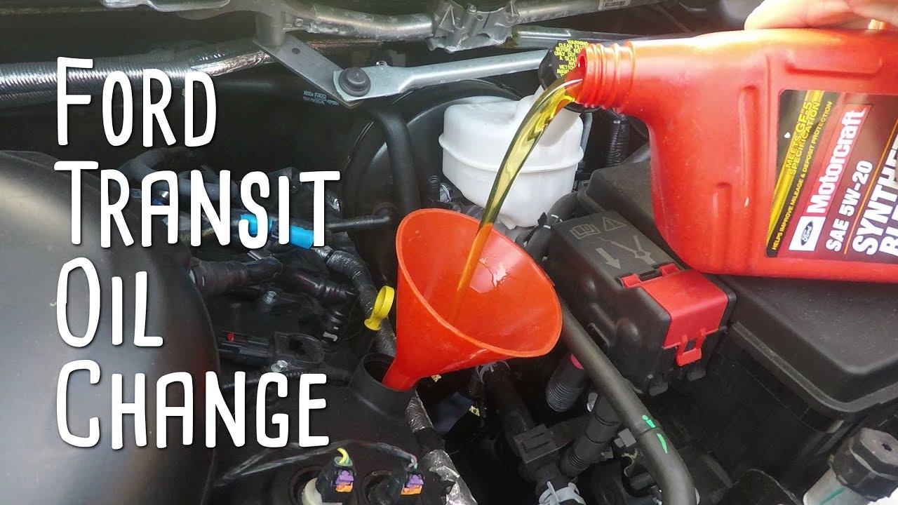 Ford Transit - Oil Change - YouTube